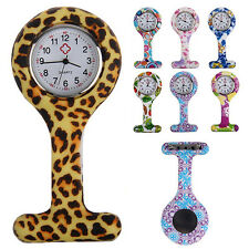 Adorable Silicone Nurses Brooch Tunic Fob Pocket Watch Stainless Dial Alert