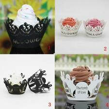 Pack of 50Pcs Halloween Ghost/Pumpkin Hollow Cupcake Liner Case Wrappers Decor