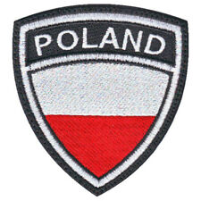 POLAND CREST FLAG EMBROIDERED PATCH