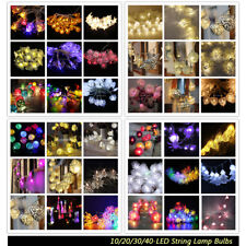 Various 10/20/30/40 LEDs String Lamp Fairy Lights Christmas Wedding Party Decors