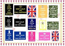 "Large A4 Personalised Keep Calm and ""Add your own Design and  Text"" Poster Gift"
