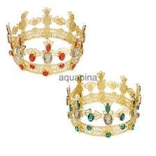Ruby Emerald Crystal Wedding Bridal Party Pageant Prom Tiara Crown-Gold