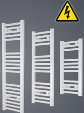 Heated White Towel Rail Radiator Central Heating|Electric Pre-filled 250mm Wide