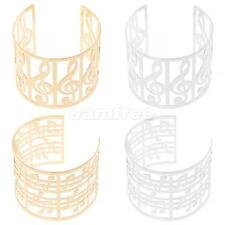 Fashion Partywear Musical Notes Theme Open Wide Bangle Cuff Bracelet Jewelry