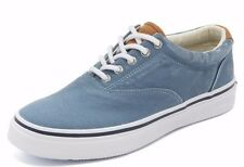 NEW SPERRY TOP SIDER STRIPER  LL CVO LIGHT BLUE CANVAS SNEAKERS BOAT SHOES