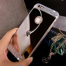Ultra Thin Plating Mirror Case Luxury  Rhinestone  TPU Cover for Iphone5/5s