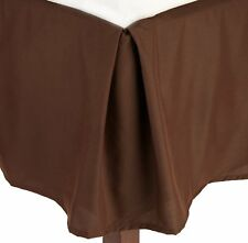 Luxury 1 Qty Bed Skirt 1000 TC Egyptian Cotton Chocolate Solid Drop 15 Inch