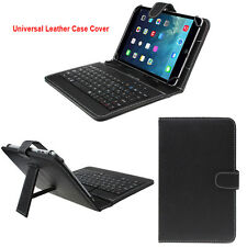 7/10.1 inch Universal Leather Case Cover with Micro USB Keyboard For Tablet PC
