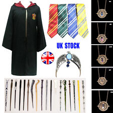 UK HARRY POTTER Cosplay Gryffindor Cloak Tie Wand Costume CAPE Costume Necklace