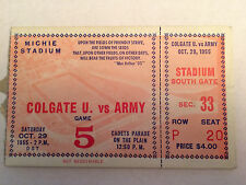 1955 Colgate vs Army Michie Stadium October 29