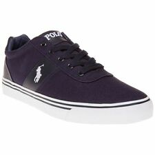 Size 8 New Mens Polo Ralph Lauren Newport Navy Blue Hanford Canvas Trainers
