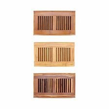 "Bamboo Wood Floor Vent Register Wood 6"" x 11 4/5"""