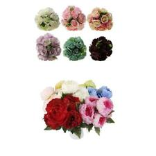 1x Artificial Rose Flowers Silk Bouquet Bridal Home Wedding Vase Decoration