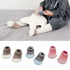 Baby Kids Non-slip Slipper Socks Soft Warmer Coral Velvet Warmers Boat Socks New