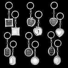 Cute Mini  Creative Metal Alloy Insert Photo Picture Frame Keyring Keychain Gift
