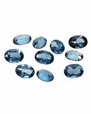 3x4MM - 8x10MM CALIBRATED SIZE NATURAL LONDON BLUE TOPAZ OVAL CUT GEMSTONE