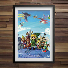Legend of Zelda Poster Link Master Poster High Quality Anime Print Many Sizes