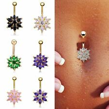 Stainless Steel Rhinestone Navel Jewelry Belly Button Rings Body Piercing