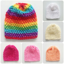 Cute Baby Kids Girls Toddler Winter Warm Knitting Crochet Beanie Hat Beret Cap