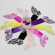 50x Hollow Butterfly Napkin Rings Paper Holder Table Party Wedding Decoration