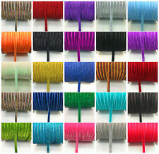 "New DIY 5 yards 3/8 ""10mm Velvet Ribbon Headband Clips Bow Decoration UK"