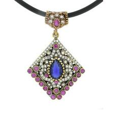 925 Silver Crystal Necklace Pendant Copper Plated