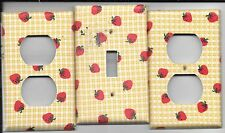 Strawberries Light Switch Cover and Electrical Outlet Plates