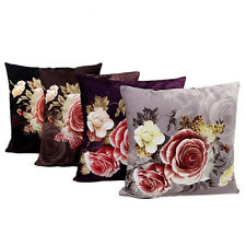 Home Cotton Sofa Bed Pillowcase Cushion Cover Peony Rose Printing Dyeing