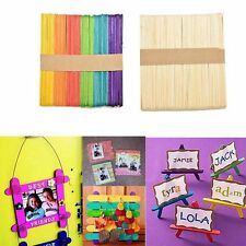 50Pcs DIY For Party Kids Wooden Making Puzzle Pops Toy Gift Crafts Ice Cream