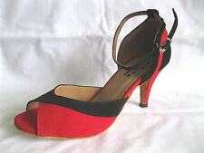 Ladies Black/Red Ballroom, Latin, Sala, Tango, Jive Dance Shoes - UK Sizes 3 - 6