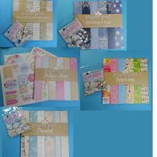 """CRAFTWORK CARDS  *8"""" X 8"""" PAD & MATCHING CANDI OR TOPPER PACKS*  YOU CHOOSE"""