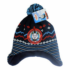 Boys Thomas The Tank Engine Winter Fleece lined hat with Bobble Age 3 M TO 6 Yrs