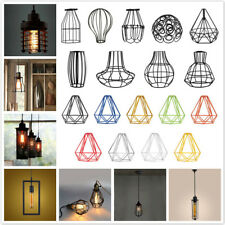 Vintage Metal Hanging Pendant Ceiling Light Lamp Bulb Cage Lampshade Decor PICK