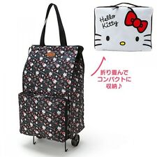 Hello Kitty My Melody Folding Carry Bag Travel Purse Suitcase Pouch Japan S6601