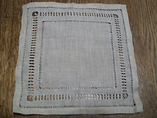 "Vintage Antique Hand Drawn Linen Doily  11"" X 16"" 19320's 1930's  Lovely"