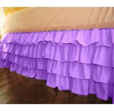 """Multi Ruffle 1 Qty Bed Skirt Drop 8-20"""" Egyptian Cotton 1000 TC Lavender Solid"""