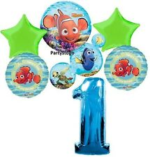 DISNEY NEMO 1ST BIRTHDAY PARTY BALLOONS BOUQUET SUPPLIES DECORATIONS DORY