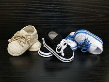 Crochet baby sneakers,Crochet Baby shoes, Baby sneakers, Converse crochet shoes.