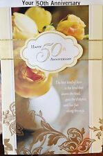 YOUR 50TH GOLDEN HAPPY ANNIVERSARY CARD 50 YEARS FRIENDS Choice 13 by HALLMARK