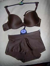 BEAUTIFUL CHOCOLATE BROWN BRA SET WITH SHORTS  -SIZES 34  -A  -D  M&S