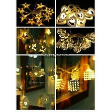 10-LED Battery Fairy Wire String Lights Indoor/Outdoor Wedding Party Patio Lamps