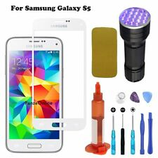 Samsung Galaxy S5 White Outer Screen Glass Lens Replacement Tools+UV Light/Glue