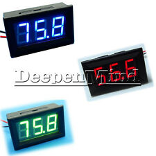 Blue Red Green DC 0-100V LED Digital Display Voltmeter LED Voltage Panel Meter