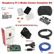 Raspberry Pi 3 Model B 512 wifi OSMC Media Center Complete Kit M3003