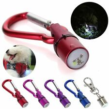 Aluminum Dog Cat Pet Safety RGB Flashing Flash LED Light Collar Tag Waterproof