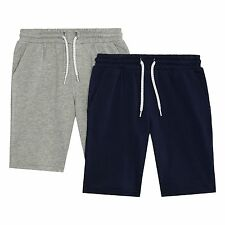 Bluezoo Kids Boys' Navy And Grey Two Pack Sweat Shorts From Debenhams