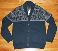 NEW NWT Mens GAP 100% Cotton Shawl Cardigan Sweater $59.99 Blue *4G