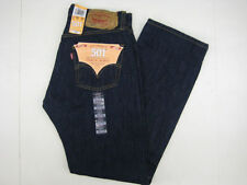 Levis 501 Mens Jeans Rinse Blue Straight Leg Buton Fly Jeans 501-0115 NEW