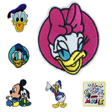 DIY Mickey Mouse Duck Motif Applique Embroidered Iron On Patch Sew Accessories