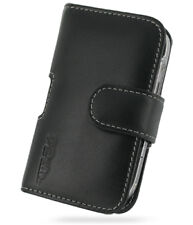 PDair Black Leather Horizontal Pouch for BlackBerry Bold 9000